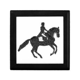 Boîte À Souvenirs Conception de mosaïque de cheval et de cavalier de