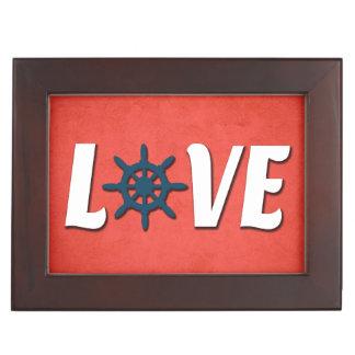 Boîte À Souvenirs Conception nautique d'amour