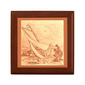 Boîte À Souvenirs Conception nautique de boîte de bibelot de