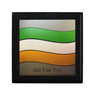Boîte À Souvenirs Couleur-Chrome de drapeau de l'Irlande par Shirley