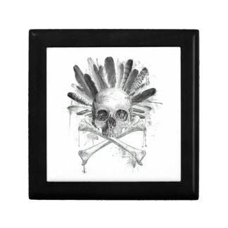 Boîte À Souvenirs Crâne gothique de style tribal - la croix désosse