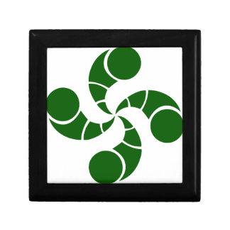 Boîte À Souvenirs Croix basque destructuré verte