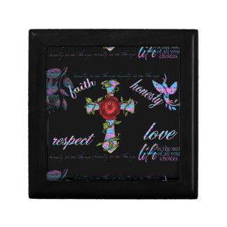 Boîte À Souvenirs Croix de fantaisie