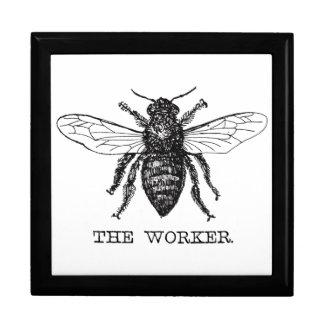 Boîte À Souvenirs Cru de bourdon d'abeille de travailleur de