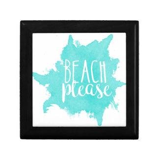 Boîte À Souvenirs De plage blanc svp