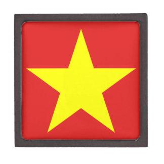 Boîte À Souvenirs De Première Qualité Boîte de souvenir d'étoile de jaune de drapeau du