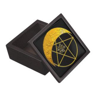 Boîte À Souvenirs De Première Qualité Croissant de lune d'or et pentagramme - Giftbox B