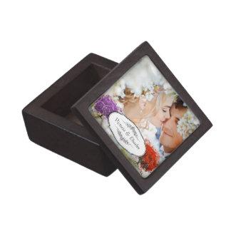 Boîte À Souvenirs De Première Qualité Mariage rayonnant d'arbre de feuille de Purple