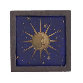 Boîte À Souvenirs De Première Qualité Nuit étoilée de lune céleste de Sun