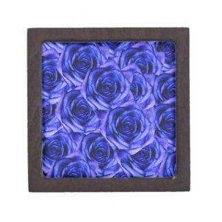 Boîte À Souvenirs De Première Qualité Petite boîte de souvenir de roses bleus