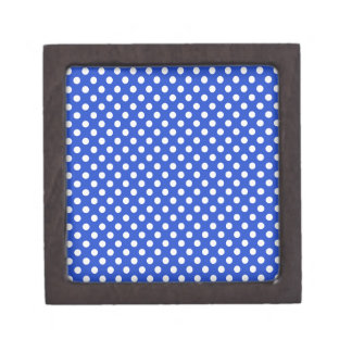 Boîte À Souvenirs De Première Qualité Pois de combinaison de bleu royal par STaylor