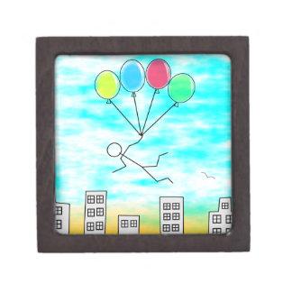 Boîte À Souvenirs De Première Qualité Voler au-dessus de la ville avec des ballons