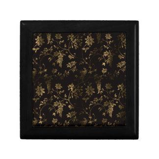 Boîte À Souvenirs Décoration florale d'or