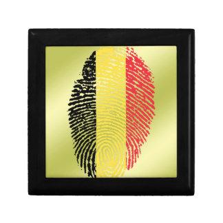 Boîte À Souvenirs Drapeau belge d'empreinte digitale de contact