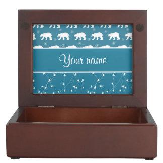 Boîte À Souvenirs Étoiles de scintillement d'ours blancs