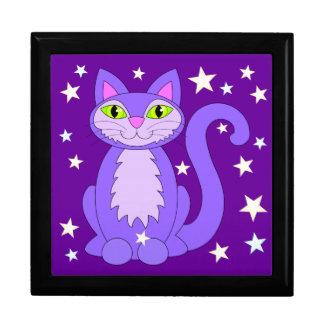 Boîte À Souvenirs Étoiles pourpres de sourire cosmiques de Kitty de