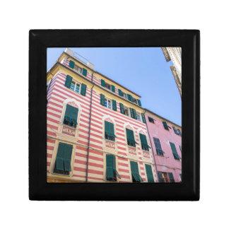 Boîte À Souvenirs Façades Monterosso Cinque Terre Ligurie Ital de