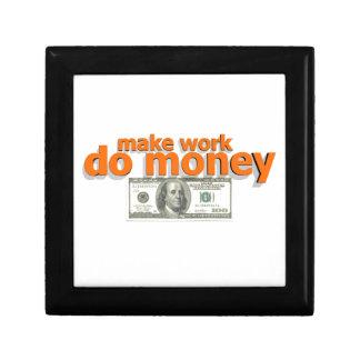 Boîte À Souvenirs Faites le travail faire l'argent