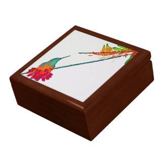 Boîte À Souvenirs Faune florale animale d'oiseau de colibri