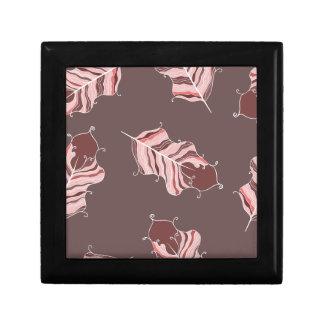 Boîte À Souvenirs feuille brun