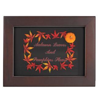 Boîte À Souvenirs Feuille d'automne
