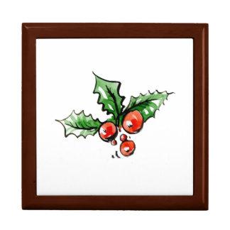 Boîte À Souvenirs Feuille décoratif moderne de Noël de nouvelle