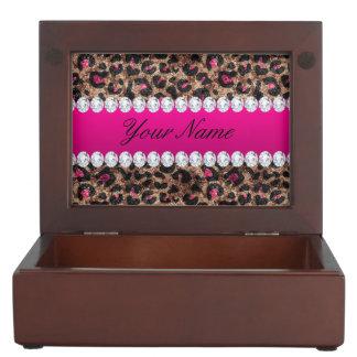 Boîte À Souvenirs Feuille d'or et diamants de rose de roses indien