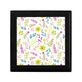 Boîte À Souvenirs Fleurs de Colorfull sur le blanc