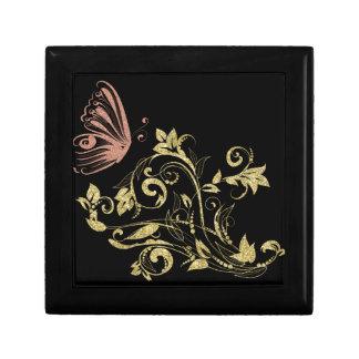 Boîte À Souvenirs Floral d'or