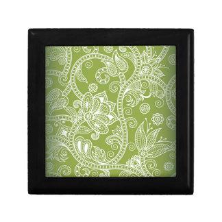 Boîte À Souvenirs floral vert