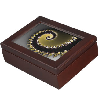 Boîte À Souvenirs Fractale. Or, argent, noir