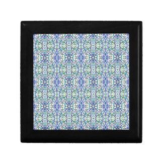 Boîte À Souvenirs Géométrique bleu et vert