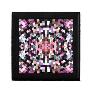 Boîte À Souvenirs Géométrique rose et noir Trippy