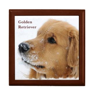 Boîte À Souvenirs Golden retriever de chien de neige