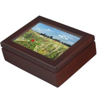 Boîte À Souvenirs Jardin de fleurs sauvages de pavots d'ed de