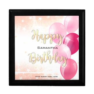Boîte À Souvenirs Joyeux anniversaire étoilé élégant et ballons