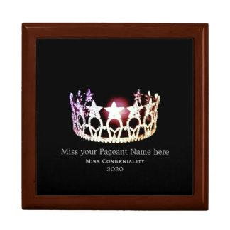 Boîte À Souvenirs La couronne argentée de la Mlle Etats-Unis
