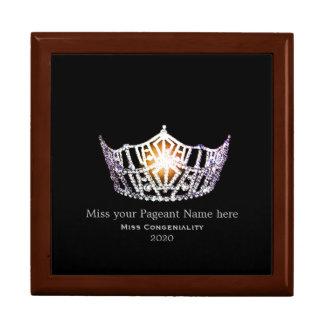 Boîte À Souvenirs La couronne argentée de Mlle Amérique attribue la