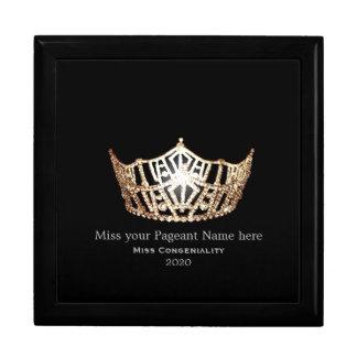 Boîte À Souvenirs La couronne d'or de Mlle Amérique attribue la