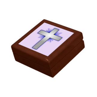 Boîte À Souvenirs La croix rougeoyante -