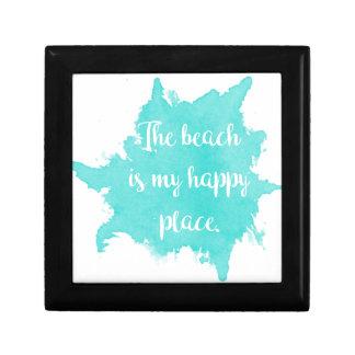 Boîte À Souvenirs La plage est mon endroit heureux