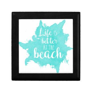Boîte À Souvenirs La vie est meilleure à la plage