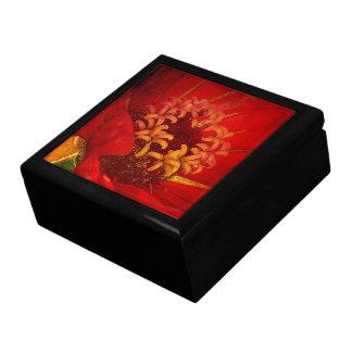 Boîte À Souvenirs Le feu rouge sang et d'or - boîte décorative