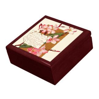 Boîte À Souvenirs L'île tropicale fleurit le poème floral des