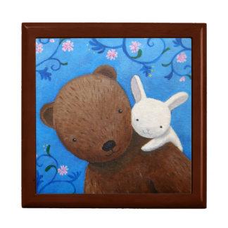 Boîte À Souvenirs L'ours et le lapin aiment pour toujours