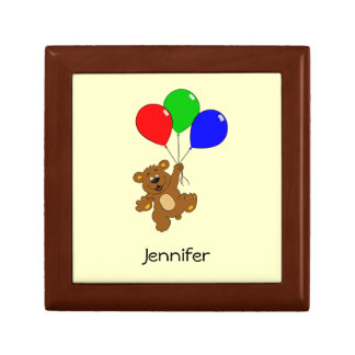 Boîte À Souvenirs L'ours mignon avec la bande dessinée de ballons