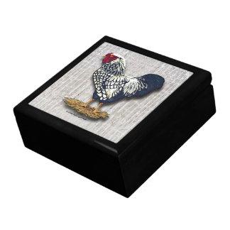 Boîte À Souvenirs Lumière Barnboards de coq de Wyandotte lacée par