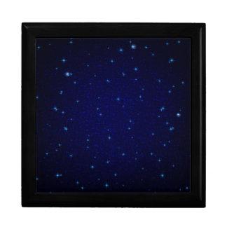 Boîte À Souvenirs L'univers avec les étoiles bleues
