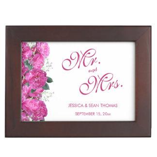 Boîte À Souvenirs Mariage romantique de bouquet floral