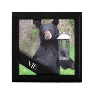 Boîte À Souvenirs Monogramme d'ours noir